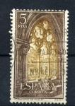 Stamps Spain -  monasterio de poblet