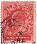 Sellos de Europa - Reino Unido -  Rey Eduardo VII