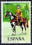 Sellos de Europa - España -  Uniformes militares. Arcabucero ecuestre, año 1603.