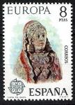 Stamps Spain -  Europa - C.E.P.T. Dama de Baza, Granada.