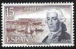 Sellos de Europa - España -  Personajes españoles. Jorge Juan.
