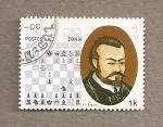 Sellos de Asia - Laos -  Maestros del ajedrez