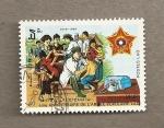 Stamps Laos -  40 Aniv del Ejército Popular