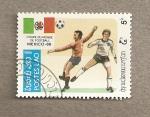 Stamps Laos -  Copa del mundo fútbol