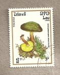 Sellos de Asia - Laos -  Hongo Xerocomus