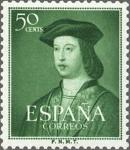 Sellos de Europa - España -  ESPAÑA 1952 1106 Sello Nuevo V Centenario Nacimiento Fernando el Católico