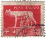 Stamps Italy -  Escultura de la Loba amamantando a dos niños