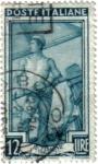 Sellos de Europa - Italia -  Italia oficios. Timonel Veneciano.