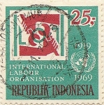 Stamps Indonesia -  INTERNATIONAL LABOUR ORGANISATION