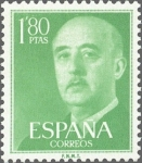Stamps Spain -  ESPAÑA 1955 1156 Sello Nuevo General Franco 1,80pts