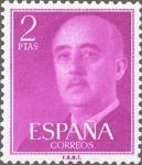 Sellos de Europa - España -  ESPAÑA 1955 1158 Sello Nuevo General Franco 2pts