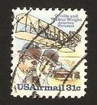 Sellos del Mundo : America : Estados_Unidos : orville y wilbur wright, pioneros de la aviacion