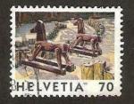 Sellos de Europa - Suiza -  caballos de madera