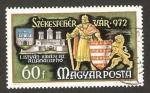 Stamps : Europe : Hungary :  Castillo y escudo de armas