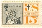 Sellos de America - Estados Unidos -  Estatua de la Libertad.