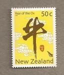 Sellos de Oceania - Nueva Zelanda -  Año chino del buey