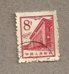 Stamps China -  Edificio moderno