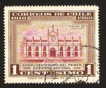 Stamps Chile -  150 anivº del primer gobierno nacional, tribunal del consulado
