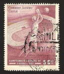 Stamps : America : Chile :  210 - Campeonato mundial de fútbol en Santiago de Chile en 1962