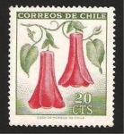 Stamps Chile -  flor