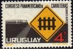 Stamps : America : Uruguay :  Conmem.Congr.Panamericano de Carreteras