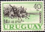 Stamps : America : Uruguay :  sesquicentenario Grito de Asencio