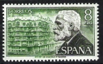 Stamps Spain -  Personajes españoles. Antonio Gaudí.