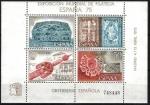Stamps Spain -  Expo. Mundial de Filatelia. Orfebrería española.Hoja Bloque, 4 valores.