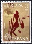 Stamps Spain -  Europa - C.E.P.T. Cueva de la Araña.