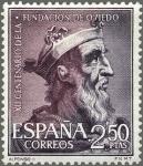 Stamps Spain -  ESPAÑA 1961 1397 Sello ** XII Cent. Fundación Oviedo Alfonso II Yv1070