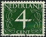 Sellos de Europa - Holanda -  Cifra