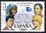 Sellos de Europa - España -  Año Internacional de la mujer.