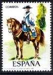 Sellos de Europa - España -  2277 Uniformes militares. Regimiento de Montesa, año 1788.