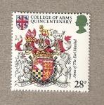 Sellos de Europa - Reino Unido -  500 Aniv. del Colegio de Armas