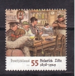 Stamps Germany -  cent. heinrich zille