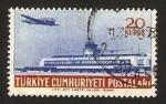 Sellos de Asia - Turquía -  avion y aeropuerto