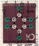 Stamps Germany -  100 años de la fórmula de benceno