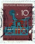 Sellos de Europa - Alemania -  150 años de impresión. Primera impresión de cilindro plano de Friedrich Koenig