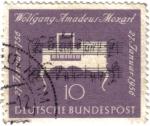 Stamps Germany -  200a Aniversario del nacimiento de Wolfgang Amadeus Mozart (1756-1791)