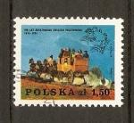 Stamps Poland -  EMBLEMA  U.P.U.  Y  CARRUAJE