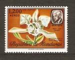 Stamps America - Honduras -  ORQUÍDEA  BRASSAVOLA  Y  LUIS  LANDA