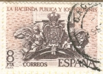 Sellos de Europa - España -  La Hacienda Pública y los Borbones.