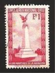 Stamps : America : Chile :  Monumento a los mártires de la aviación
