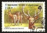 Sellos del Mundo : Asia : Uzbekistán : fauna, cervus elaphus bactrianus