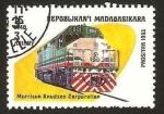 Stamps : Africa : Madagascar :  tren, locomotora morrison knudsen corporation