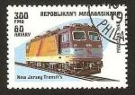 Stamps : Africa : Madagascar :  tren, locomotora new jersey transit