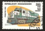 Stamps Africa - Madagascar -  tren, locomotora general motors