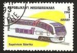 Stamps : Africa : Madagascar :  tren, superviem odoriko