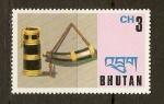 Sellos de Asia - Bhután -  RECIPIENTE  Y  CUERNO