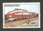 Stamps Africa - Burkina Faso -  tren